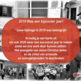 Jouw bijdrage in 2019 was belangrijk!