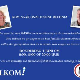 Kom naar onze online meeting op 4 juni
